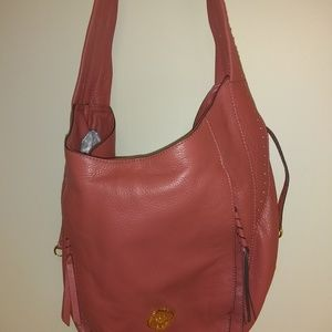 Burnt amber Official OrYany Purse with zippers EUC